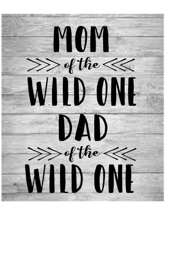 Wild One Svg Mom Of The Wild One Dad Of The Wild One Etsy