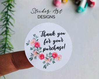 30 Thank You For Your Purchase Order Stickers Business Etsy