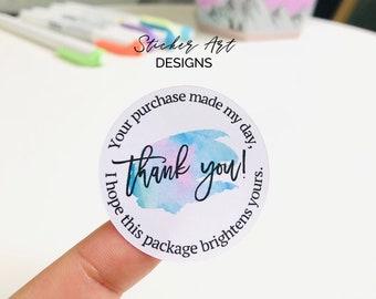 packaging supplies mailing supplies XOXO thank you stickers mailing stickers packaging stickers 24 stickers per sheet.
