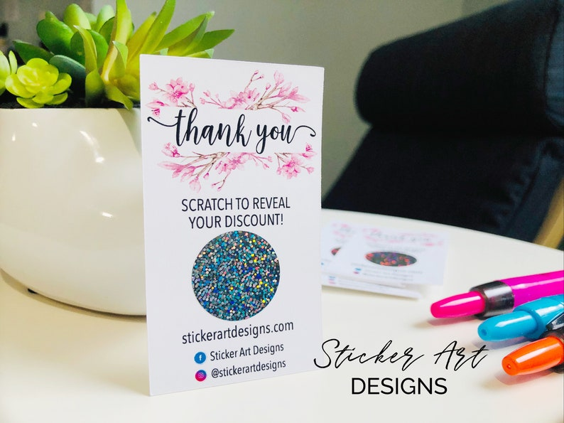 Scratch Off Win Cards Custom Thank You Cards Custom Business Cards Packaging Supplies Small Business Cards Thank You Scratch Off Cards