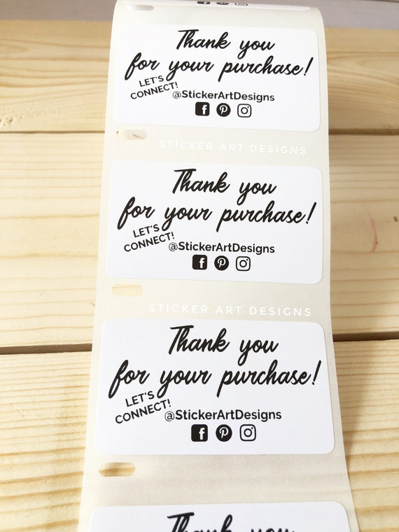 Thank You For Your Purchase Stickers Business Stickers Cute Etsy