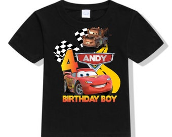 Disney Cars Shirts Personalized Boy T And Baby Bodysuit