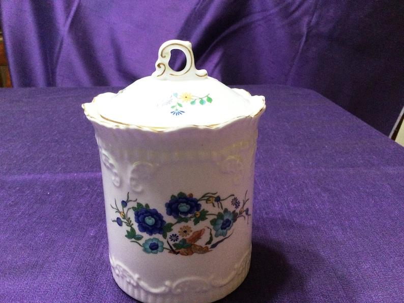 Exquisite Aynsley Marlina Biscuit Jar with Lid