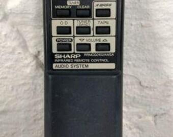 Sharp RRMCG0103AWSA Remote for cd1800 cdc1800 cdc401 cdc406 cdc408 cdc602 cpc401