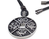 Mens necklace /  leather ...