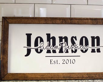 Personalized Rustic Family Knockout Sign
