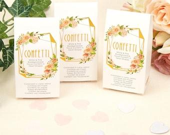 Geo Floral Tissue Confetti, Biodegradable Wedding Confetti, Floral Paper Confetti, Watercolor Table Confetti, Decor - Wedding Confetti Shop