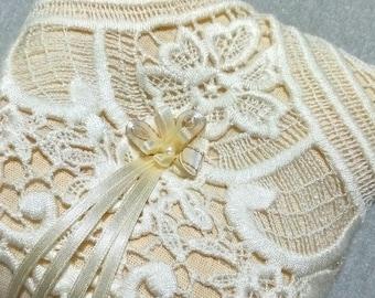 Vintage Ring Bearer Pillow, Wedding Pillow, Boho Wedding Ring Pillow, Ring Cushion, Bearer Pillow, Lace Ring Pillow,Flower Girl Basket