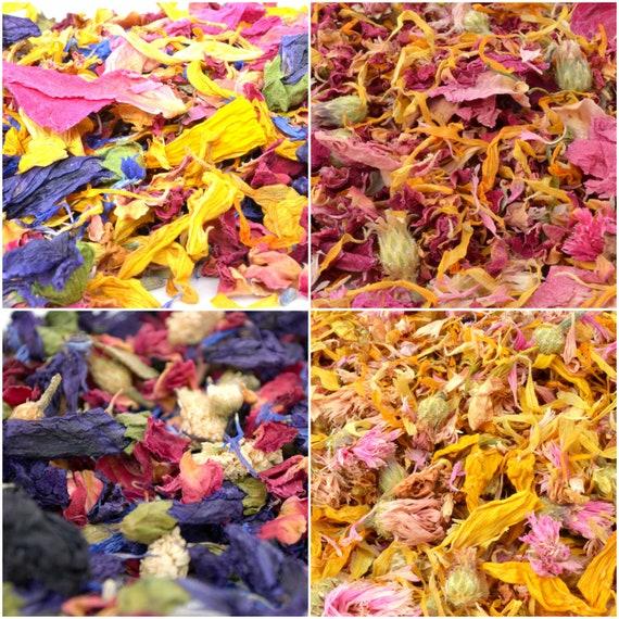 Biodegradable Confetti Dry Flower Petals Confetti Wedding Aisle 1L Natural Confetti 30 Types Wedding Confetti Confetti Flower Girl