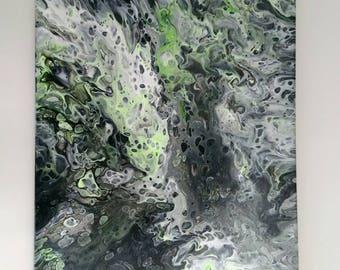 "Torrents.  16"" X 20""   Acrylic on Canvas"