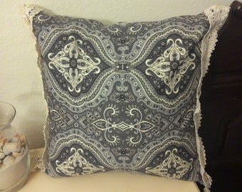 Vintage Decorative Pillow Cover with Zipper