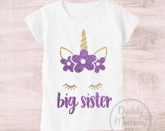 0a6c257f8ce Big Sister Unicorn Shirt Big Sister Shirt Unicorn Big Sister Shirt Girl  Unicorn Shirt Big Sister Gift Big Sister Announcement Shirt Big Sis