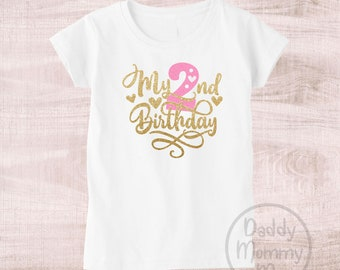 My 2nd Birthday Shirt Girl Second Outfit Two Year Old 2