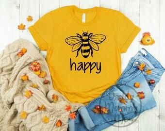 0820e9494a4c9 Be happy shirt   Etsy