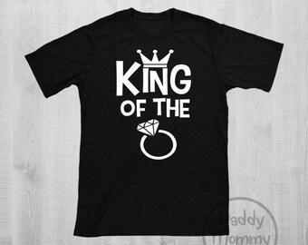 King of The Ring Shirt, Ring Bearer Shirt, Ring Bearer Gift, Ring Security Shirt, Wedding Party Shirt, Ring Bearer Proposal, Rehearsal Shirt