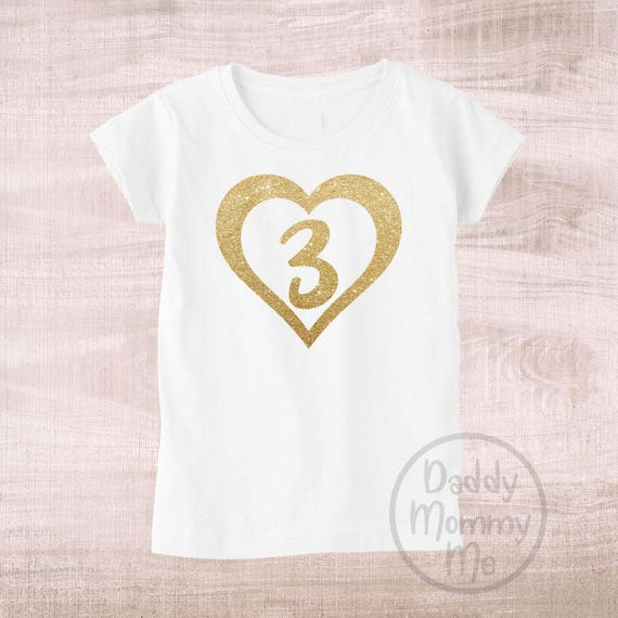 Three Year Old Birthday Outfit Girl Shirt