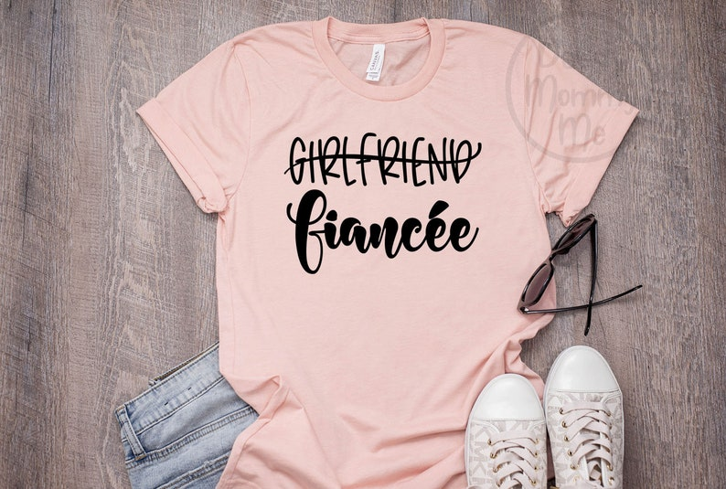 db80444b Girlfriend Fiancee Shirt Engagement Shirt Fiance Shirt Future | Etsy