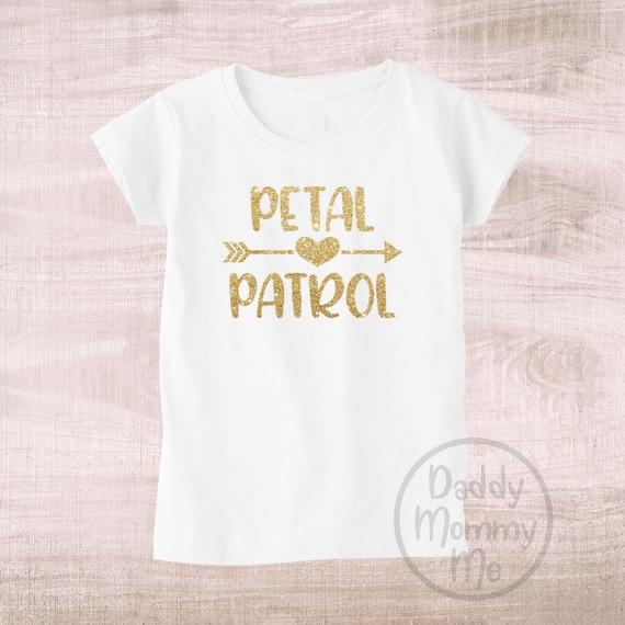 Flower girl proposal gift Petal patrol Petal Patrol shirt Flower girl Flower Girl shirt Glitter shirt Flower Girl Tee