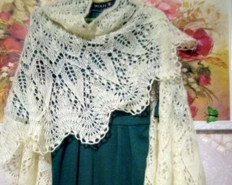Knitted shawl mohair, knitted accessory, Wedding shawl, knit shawl, wool Wrap, knit scarf, Knitted wool Shawl Wrap, evening wraps