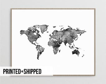 Black and white map etsy world map poster watercolour world map world map print black and white world map scandinavian print map poster world map nordic print gumiabroncs Image collections