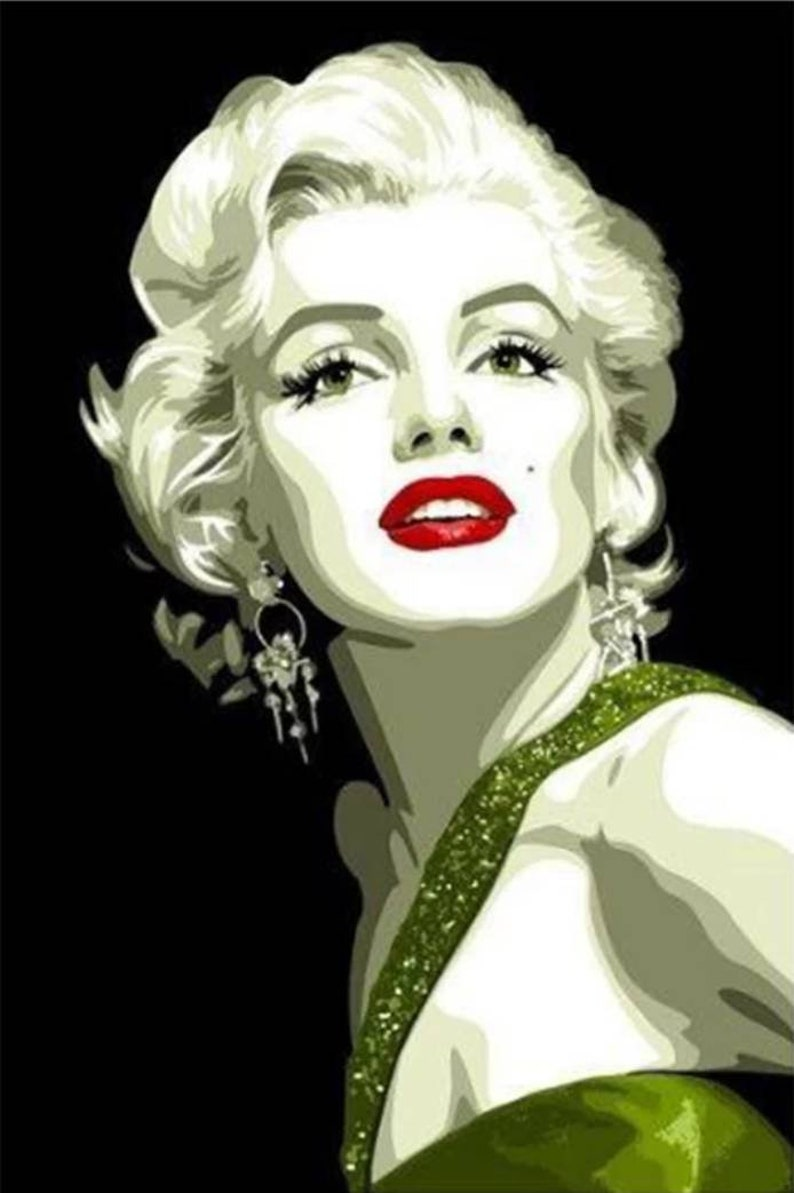 5D DIY Diamond painting Marilyn Monroe Mosaic Cross Stitch  b2a18e68ba02
