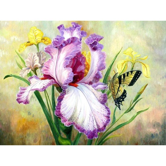 5D DIY Diamond Painting Butterfly & Flower Mosaic Cross Stitch Full Square  Drill 3D Diamond Painting kit Sticker Home Decoration Gifts