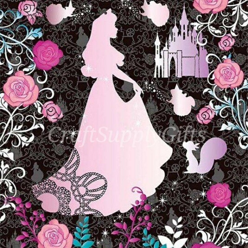 5D DIY Diamond Painting Disney Princess Aurora Mosaic Cross Stitch Full  Square Drill 3D Diamond Painting kit Sticker Home Decoration Gifts