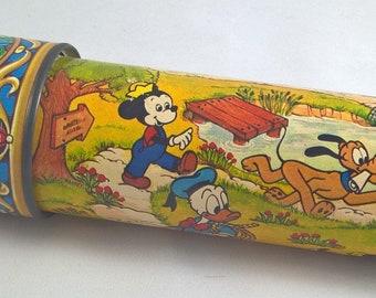 Vintage Walt Disney Kaleidoscope - Mickey/Goofy/Donald Duck/Pluto - Toy