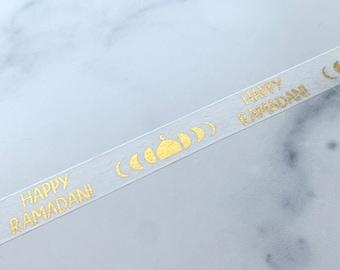 Happy Ramadan Foil Washi Tape