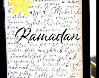 Digital Ramadan Word Art