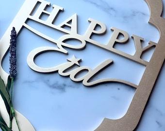 Happy Eid Wood Sign