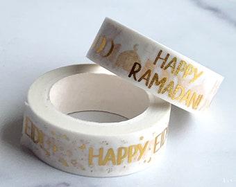Happy Ramadan and Eid Foil Washi Tape Bundle