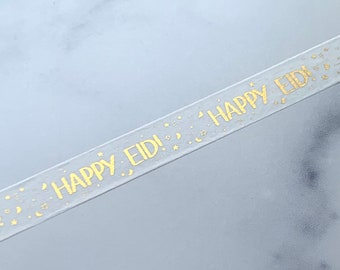 Happy Eid Foil Washi Tape