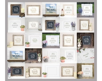Download Free Mock Up Collection - Set of 25 different Mockups in 3 formats each, JPG, PNG & PSD Smart Object, Mockup Collection, Mockup sale PSD Template