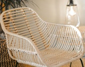 Children 39 s chair in rattan and JAVA metal