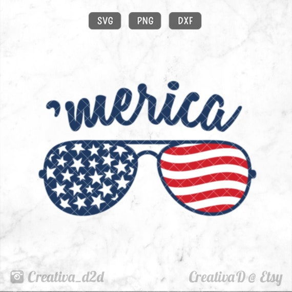Merica Svg Flag sunglasses svg Merica sunglasses svg 4th of \u043euly svg Patriotic svg Independence day svg Merica png Silhouette cut file