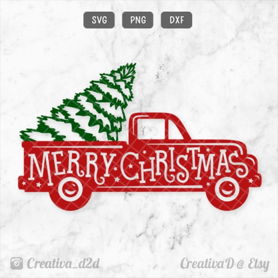 Vintage Merry Christmas.Christmas Truck Svg Merry Christmas Svg Retro Vintage Holiday Truck Clip Art Cut File For Silhouette Cricut For T Shirt Png Dxf