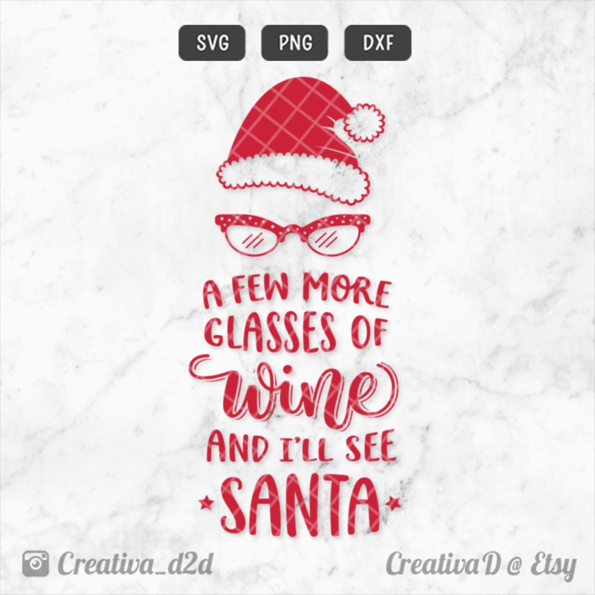 Funny Christmas SVG Santa Svg Wine Svg PNG DXF Clip Art ...