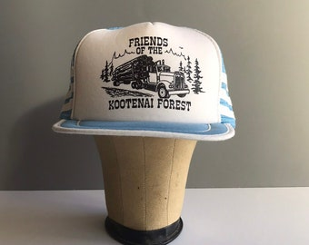 Vintage Logging Truckers Hat 48210fae7ec6