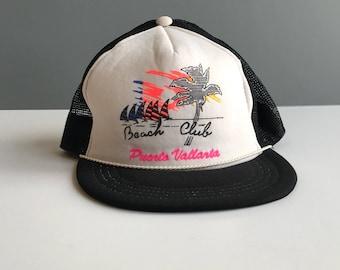 2e1ce466dd25c Vintage Beach Club Puerto Vallarta Truckers Hat