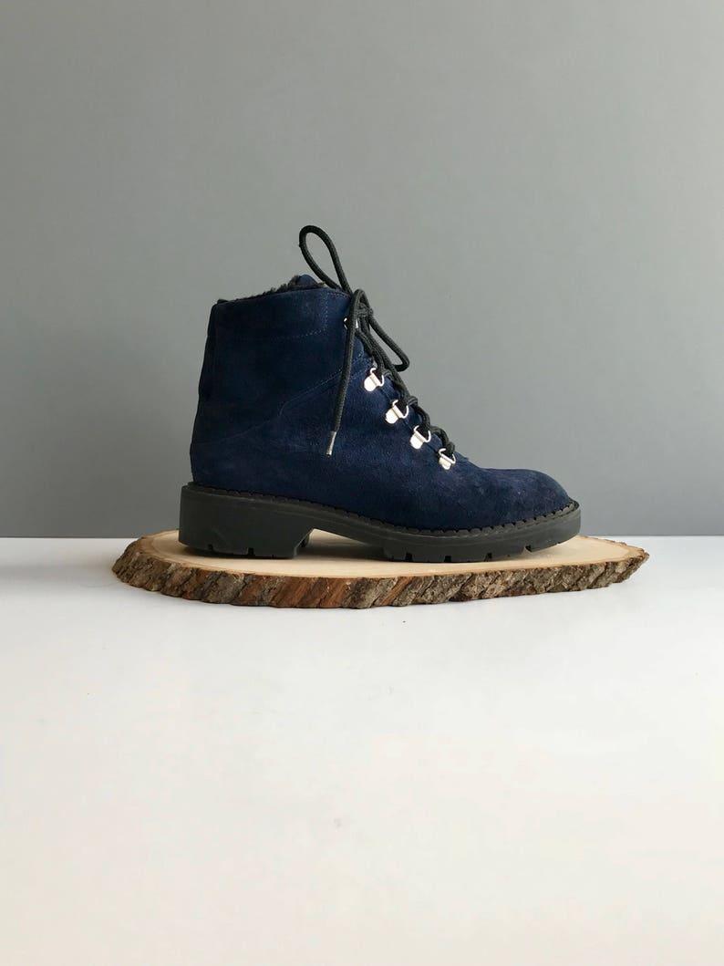 74201698a97 Bottes en daim Bleu Blondo Vintage Made in Canada chaussures