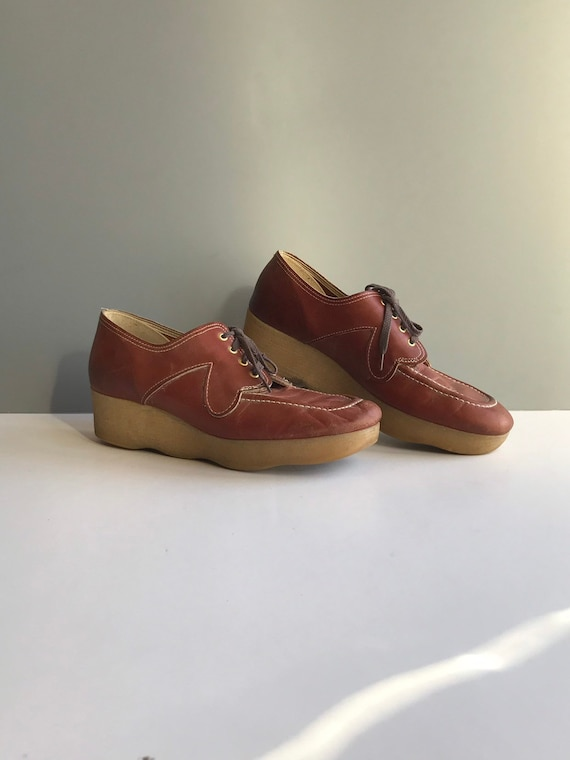 Vintage Leather Oxford Shoes, Modern Vintage Chunk