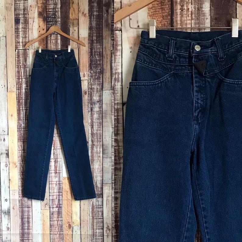 322a0649ff09e Vintage High Waist Roper Jeans Vintage Dark Denim High   Etsy