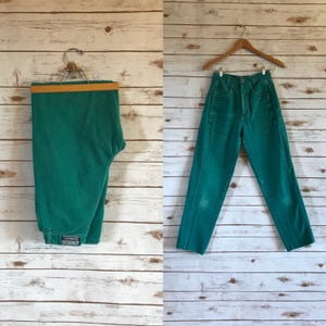 02654cc6 Vintage High Waist Rocky Mountain Jeans, Vintage Turquoise High Waisted  Rockies Jeans, Vintage Teal Western Jeans by Rockies Size 27 x 31