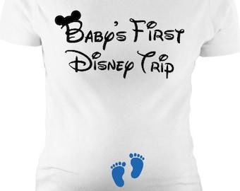 768cc379 Disney Maternity, Baby's first disney trip, bump's first trip - Maternity t  shirt, maternity tank, plus size - pregnancy announcement, gift