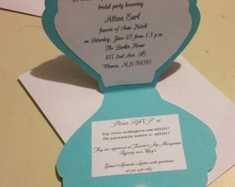 Seashell invitations Etsy