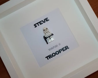 Star Wars Storm Trooper Lego Frame