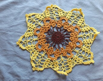 Vintage crochet doily, Pillow top decoration