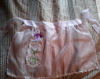 Vintage Sheer Nylon Lilac Hostess Apron