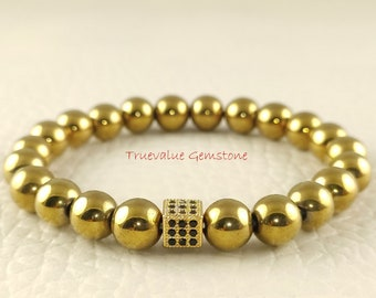 Pyrite Bracelet Iron Pyrite Beaded Bracelet Two Feathers Gold Pyrite Cubes Pyrite And Sterling Silver Bracelet Fools Gold Bracelet